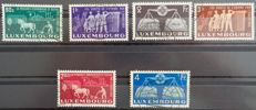 "Luxembourg 1951 - Complete series ""Europe Unie"" (United Europe) - Yvert no. 443/448"