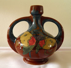 Plateelbakkerij Rozenburg - Art Nouveau handle vase with butterfly