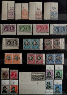 Luxembourg 1925/1970 - Beautiful set of semi modern / modern series with BDF - Between Yvert n ° 160 and 769 - With pair 454A -