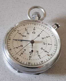 Nero - Lemania - large military observation watch - chronograph - Switzerland around 1940