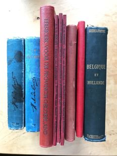 "Lot with 9 travel guides on Holland, Gelderland, Valkenburg & Geuldal, ""Zeereis naar Genua en Marseille"" - 1890/1932"