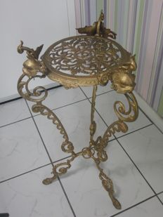 Art Nouveau style, brass plant or ornamental (side)table