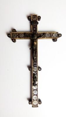 Important Cross of the Holy Land, pilgrimage to Jerusalem, XIX century. No reserve