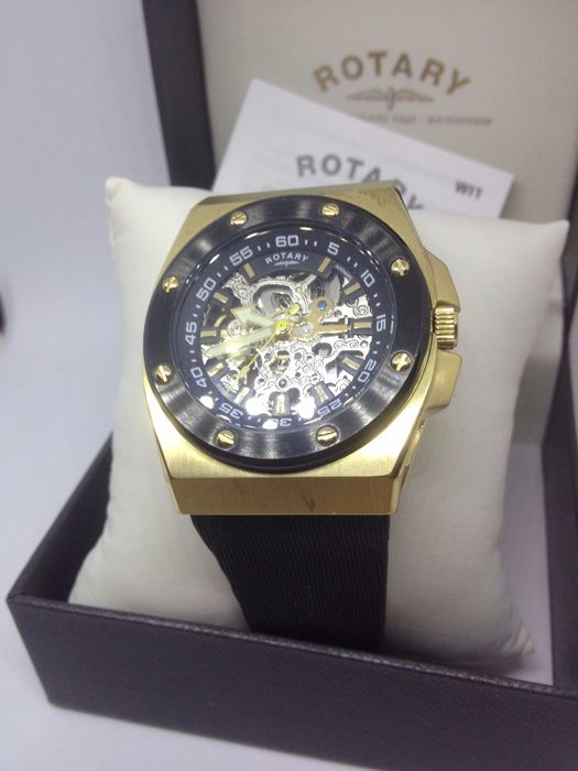 Rotary edition 614C gents mineral crystal watch