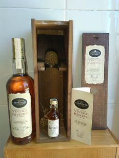 1 bottle & 1 miniature - Glengoyne 1969 Vintage reserve - OB - Wooden box
