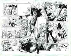 Fred Benes - Top Cow / Image Comics - Witchblade #161 - Original Art Plate - Pages 8-9 - Double Splash - (2012)