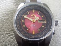 Orient Worldtimer NOS – SK Crystal men's wristwatch, 1970s/1980s