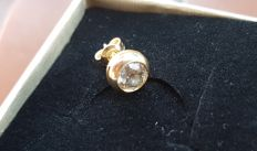 Single diamond earrings for approx. 0.94 ct in 18 kt yellow gold ***No reserve price***