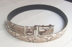 Python leather belt.