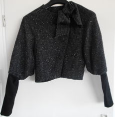 Paul Smith - Black Label wool tweed Jacket with wide sleeves and black attached sleeves