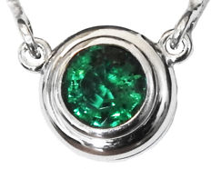 Emerald Solitaire Pendant Top Quality Gemstone