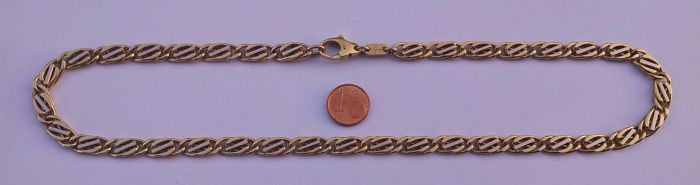 Heavy 18 kt gold curb link chain, 68 g, 52 cm
