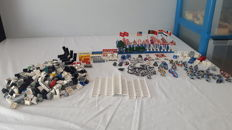 Assorted Lego flags - traffic signs - shields - several printed bricks