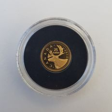 Canada - 25 Cents 2010 'Caribou' - 0.5 g gold