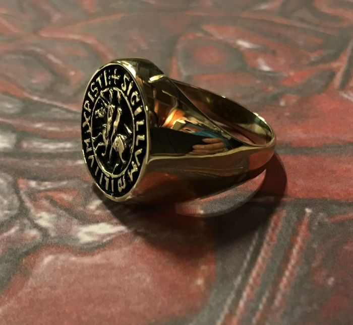 Knight Templar Masonic ring  - Catawiki