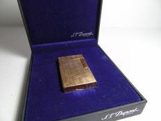 Beautiful old S.T. Dupont Paris VP men's lighter, 20 micron gold-plated, full set