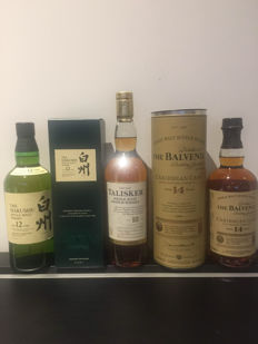 3 bottles - Talisker 18 - The Balvenie 14  - The Hakushu 12