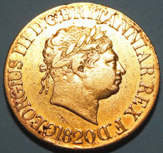 United Kingdom - Sovereign 1820 George III - gold