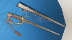 Light Cavalry sword model 1822 with scabbard with same number and leather strap