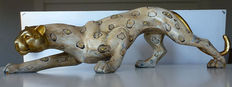 Elegant depiction of a jaguar (the moment before he attacks the prey) - Wooden - Hand finished product