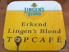 Lingen's Blond emaille bord - 1995