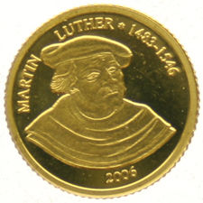 Benin – 1500 Francs 2006,  Martin Luther King – gold