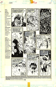 Anthony Williams - Original Art Plate - DC Comics - Fate # 13 - Page 1 - (1995)