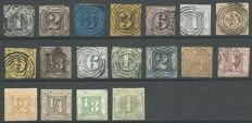 Thurn und Taxis - 1852 - collection in various conditions