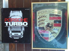 GREAT BOOK - Porsche Turbo and Porsche LOGO PUZZLE in frame 30x40 cm