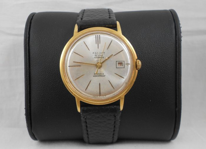 Poljot De Lux  Automatic Date   29 jewels  Cal: 2416  Men's Wrist watch USSR Circa 1960s