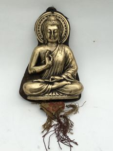 Bronze Buddha in blessing mudra - Tibet - 2nd half 20th century.