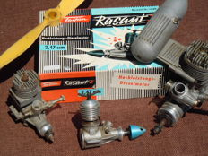LOT: 3 model aircraft thermal engines including 1 Diesel collector 1966!!""