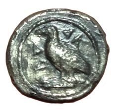 Greek Antiquity - Italy, Sicily, Akragas (472-425 BC) - Rare AR Litra (10mm; 0,58g.) - Eagle / Crab - SNG Cop. 50 -