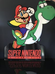 Rare large sign / advertising sign SUPER NINTENDO - MARIO BROSS - 1990s