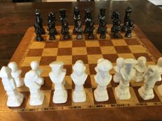 Black/white chess pieces - without chessboard