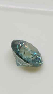 1.36 ct - Round Brilliant - Blue - No minimum price