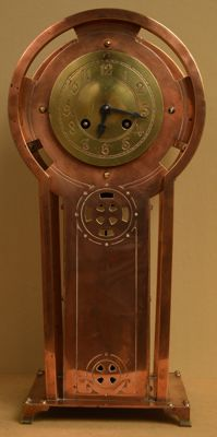 Rare, red copper clock - attributed to J. Feeterse - 1900-1910