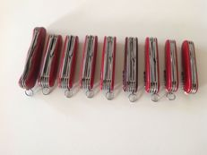 9 Victorinox Swiss Army Knives.