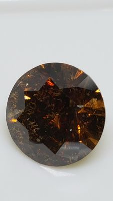 1.70 ct - Round Brilliant - Brown - SI1