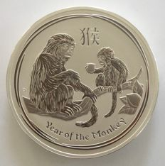 "Australia: 1 kg silver coin Lunar II ""year of the monkey"", 2016"