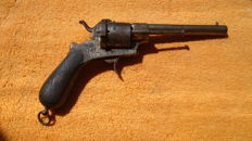 Long 6 shot pinfire. 1850-1860 Spain.