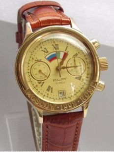 Poljot Moscow-1992-Rome Chronograph Tachymeter made by 1st Moscow watch factory 1992 serviced limited edition watch