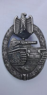 Original tank assault badge in silver Germany WW2