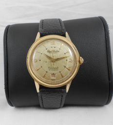Paul Buhre  RotoDatoR Date ,21 J ,  Swiss  Men´s wristwatch, 33 mm, Cal Felsa 692, Case no. 161774, Circa 1955.
