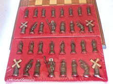 Chess: Don-Quixote of the Mancha  Wooden chessboard