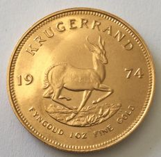 South Africa - 1 krugerrand 1974 - 1 oz gold