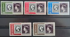 "Luxembourg 1952 - Aerial post complete series ""Centenary of the Stamp"" - Yvert n°16 to 20 –"