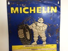 Michelin / Bibendum - Metal sign with tyre pressure table The Netherlands - 1968 - 82 x 34 cm