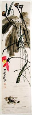 Hand painted reproduction of Qi Bai Shi - China - late 20th century