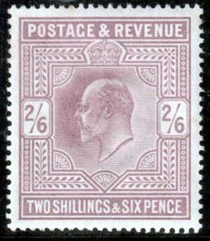 Great Britain, Edward VII 2/6sh - Stanley Gibbons 260
